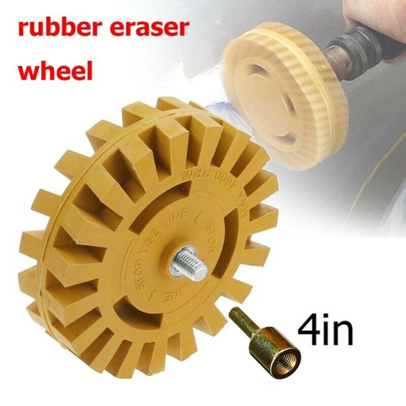 Car Sticker Remover Pinstripe Rubber Disk Eraser Wheel Arbor Adapter Polishing