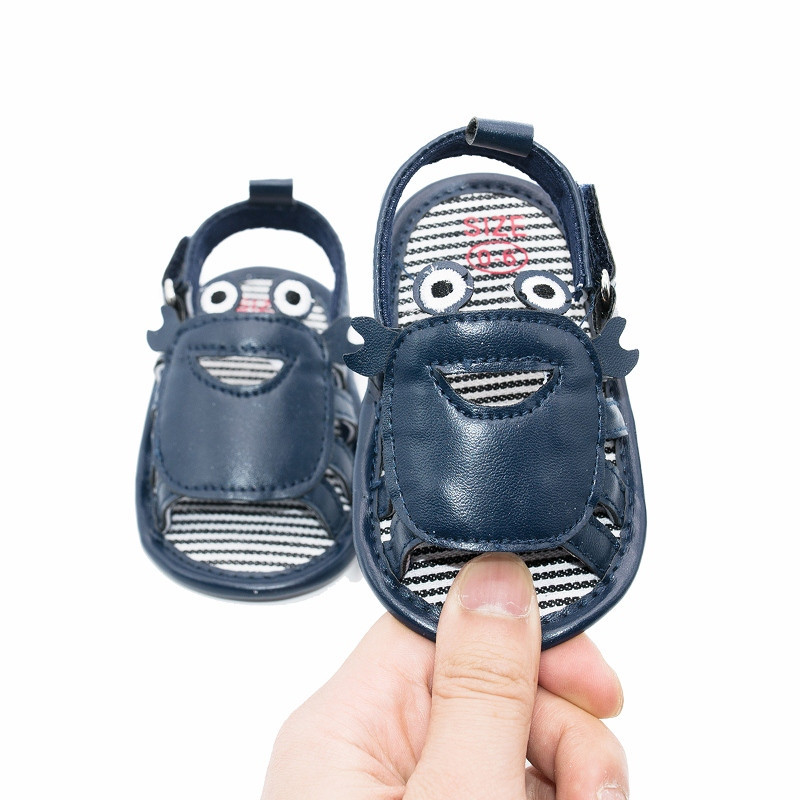 Summer New Newborn Infant Sandals Baby Boys Shoes Cute Crab Handsome Soft Soled  Kids Barefoot Shoes Moccasins Crib Sandals Shoe