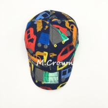 Baby Boys New 100% Cotton with All Over Print Cars Cap