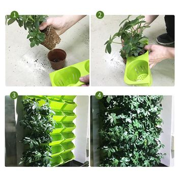 Stackable flower pot wall hanging