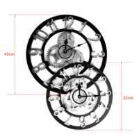 Vintage Römischen Uhr Retro Europäischen getriebe wanduhr Europäischen steampunk getriebe wand hause dekoration moderne design 3d wanduhr 2019
