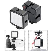 Ulanzi Ultra Helle LED Video Licht Vlog Selfie Live LED 49 Perlen Dimmbare LED Video Panel Licht für Gopro 8 max 7 6 DSLR Kamera