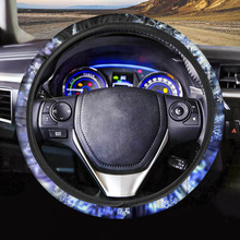 INSTANTARTS Galaxy Printed Personalized Steering Wheel Cover Set Car Steering Wheel Cover Stylish Steering Wheel Cover cruise set mfsw mf steering wheel module