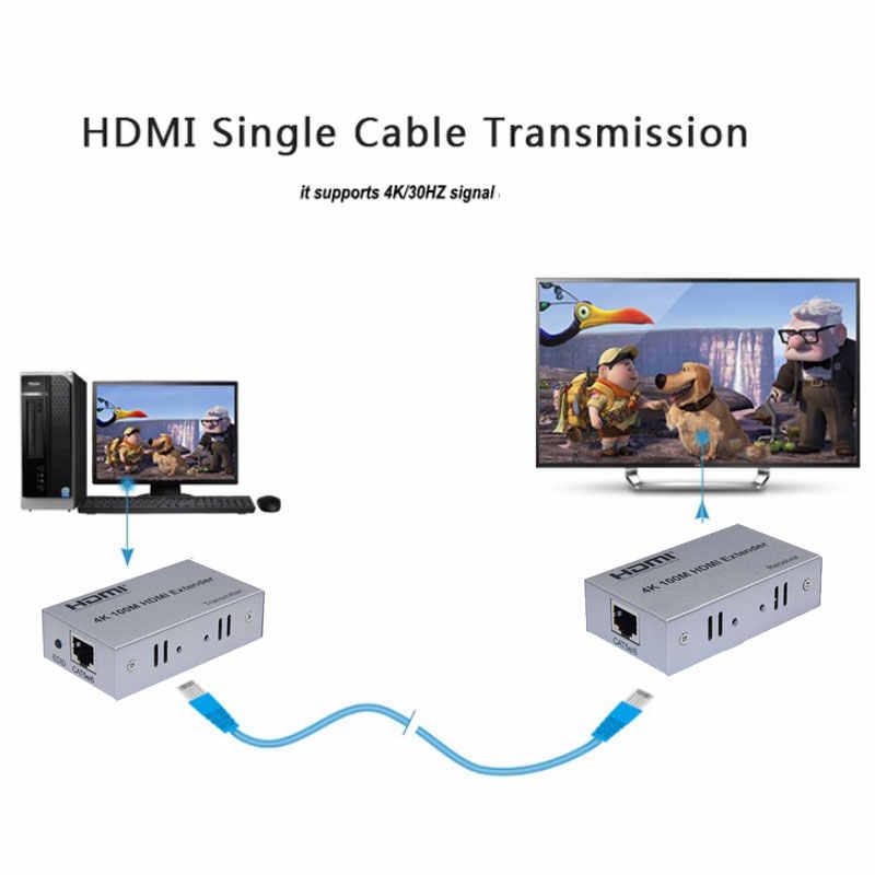 4K HDMI Extender TCP IP 100M 330FT מעל Cat5/Cat5e/Cat6 כדי UTP Rj45 רשת HDMI משדר מקלט HDMI פושטי