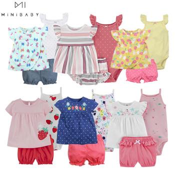 Nowe lato 2020 ubranie dla dziewczynki księżniczka 3 sztuki niemowlę dziewczynki zestawy ubrań 6M -24M strój akcesoria dla dzieci kostiumy dla niemowląt tanie i dobre opinie OrangeMom COTTON 7-12m 13-24m CN (pochodzenie) Kobiet Moda O-neck Jednego przycisku Krótki REGULAR Pasuje prawda na wymiar weź swój normalny rozmiar