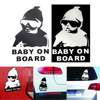 Reflective Car Sticker Waterproof Rear Door Reflective Car Sticker Baby on Board Stickers Car-styling Universal image