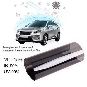 Universal Car heat shield solar film Car Window Glass Building Tinting Film Roll Side Window Solar UV Protection Sticker Curtain image