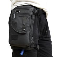 Men Waterproof Oxford Waist Leg Bag Drop Motorcycle Backpack A for Interesting Belt