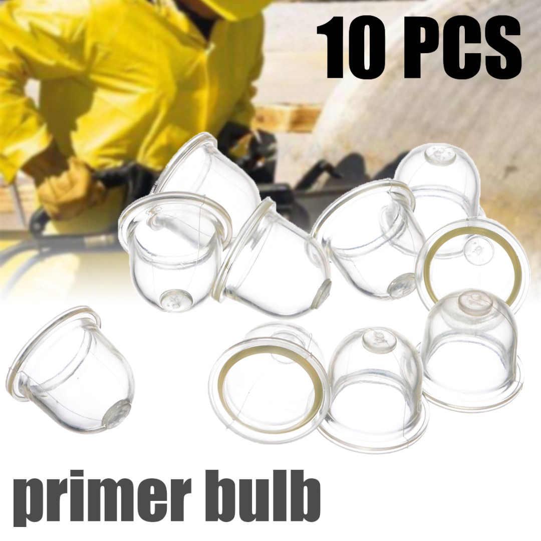 10 Stuks Primer Lampen Transparante Brandstof Carburateur Primer Bollen Types Olie Bellen Chainsaw Weedeater Trimmers Bosmaaiers
