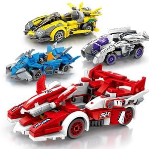 Image 3 - 速度チャンピオンスーパーカー互換レースレンガ車スポーツロードスタービルディングブロック教育 DIY のおもちゃ子供のギフト