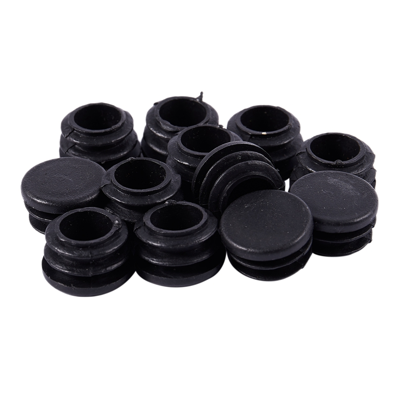 Hot XD-12 Pcs Chair Table Legs 22mm Dia Cap Round Ribbed Tube Tubing Insert