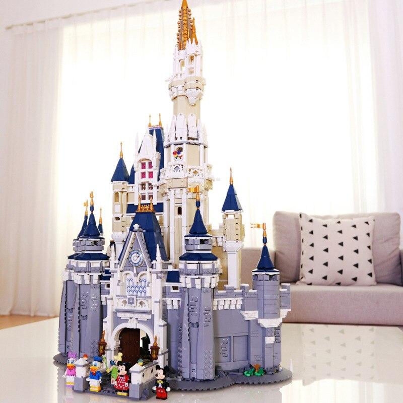 ในสต็อก Cinderella Princess ปราสาท Legoed 71040 Creator Building Block Magical World ฟิล์มอิฐของเล่น 30010 16008-ใน ชุดการสร้างโมเดล จาก ของเล่นและงานอดิเรก บน   1