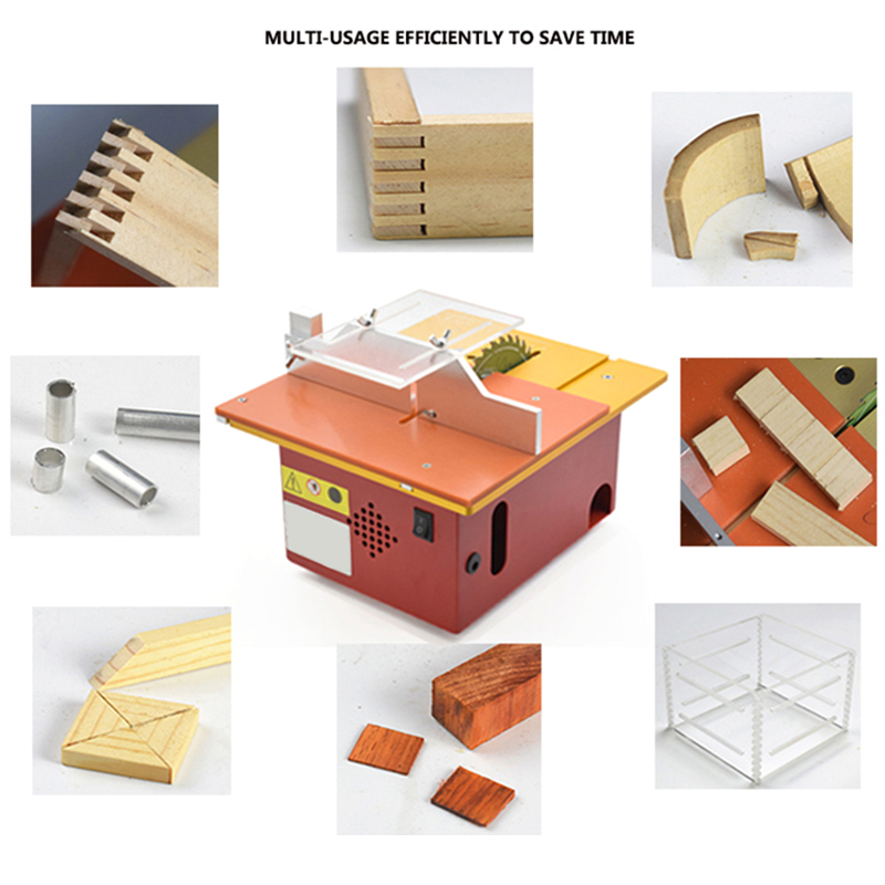 Promotion! Circular Mini Table Saw Panel Circular Saw Table Pedal DIY Woodworking Machines Mat With Scale