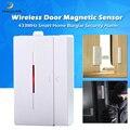 Магнитная сигнализация безопасности складского дома окна Беспроводной датчик двери легко установить чувствительный офис входной детекто...