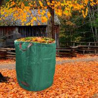 Folhas grama reutilizável rasgo resistente gramado cortar grande capacidade jardim saco de resíduos|Cestos de lixo p/ quintal|   -