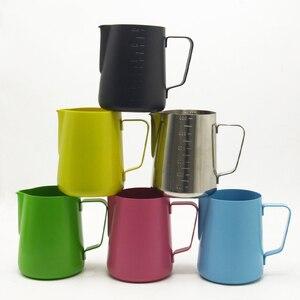 Image 2 - 600 Ml Sữa Inox Không Gỉ Bình Đựng Cà Phê Espresso Chảo Barista Thủ Công Sữa Cà Phê Latte Không Gỉ Bình Bầu 6 Màu