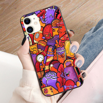 Copic Marker Doodle soft TPU border phone case for iphone 11PRO 11PROMAX 11 X XS XR XSMAX 6 plus 7 7plus 8 8plus cover image