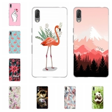 For Sony Xperia L3 Case Ultra-thin Soft TPU Silicone Cover Cute Flamingo Patterned Coque