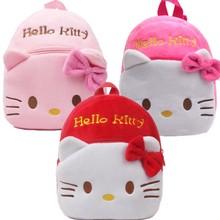 Детский плюшевый рюкзак Hello kitty mochila bebe с мультипликационным принтом, школьная сумка, детские подарки, Детский рюкзак для мальчиков и девочек, детские Студенческие Сумки