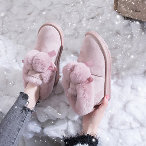 Image 3 - SWYIVY Winter Shoes Women 2019 New Snow Boots Women Pom pom Fur Warm Ankle Boots Female Casual Shoes Black Thick Non slip Botas