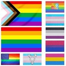 Flagnshow флаг ЛГБТ 90x150 см Радуга вещи гордость Би лесби любвеобильного аксессуары ЛГБТ флаги, бесплатная доставка