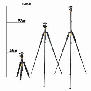 Image 4 - QZSD Q666 Professional Magnesium Aluminium Alloy Camera Tripod & Monopod For Cameras DSLR