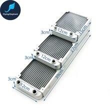 G1/4 Schroefdraad Wit Volledige Aluminium 120Mm 240Mm 360Mm Waterkoeling Radiator Vloeistof Water Rij voor Computer Chip Cpu Gpu Vga Ram