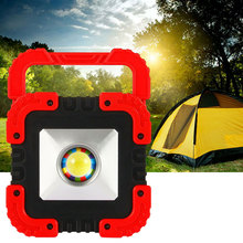 Rechargeable LED COB Work Light Solar Camping Security Floodlight Emergency Lamp new