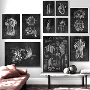 Muscle Foot Bone Heart Anatomy Skeleton Wall Art Canvas Painting Nordic Posters And Prints Wall Pictures For Doctor Office Decor(China)