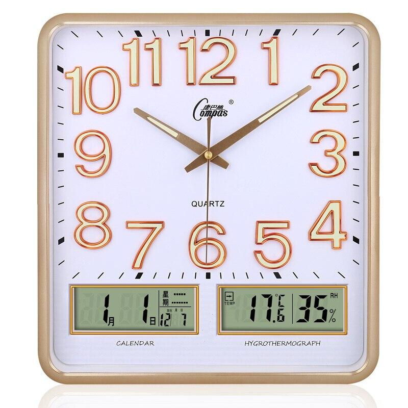 Luminous Mute Wall Clock Modern Calendars Living Room Bedroom Clock Minimalist Electronic Quartz Unique Kitchen Home Decor C6t3 Wall Clocks Aliexpress