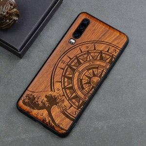Image 5 - Rzeźbiona czaszka słoń drewno etui na telefony dla Huawei P30 Pro P30 Lite Huawei P20 P20 Pro P20 Lite krzemu drewniane skrzynki pokrywa
