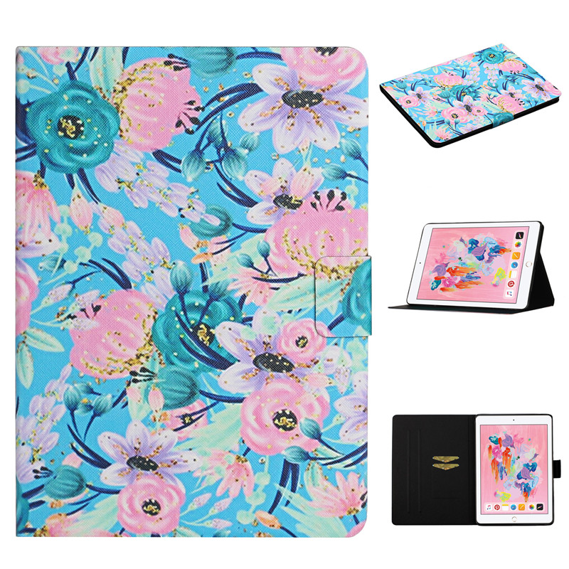 Cover iPad Generation Flower Case for 2019 10 for Case 7th Painted Funda iPad Apple 2