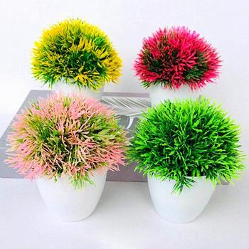 Artificial Green Plants Bonsai Small Tree Pot Plants Fake Flowers Potted Ornaments For Home Cafe Decoration Hotel Garden Decor image