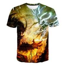 Mais novo melhor venda 3d impresso t camisa para o verão 2021 psychedelic abstrato dragão o-pescoço camiseta