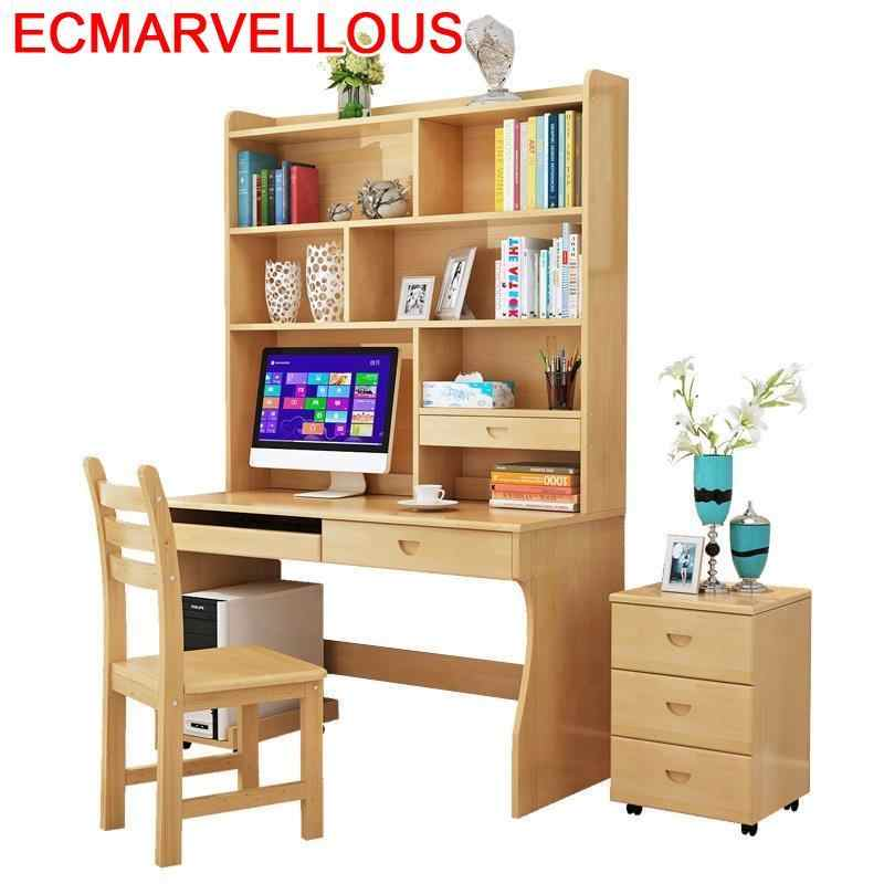 Tray Escritorio Lap Tafelkleed Biurko Escrivaninha Tafel Scrivania Retro Wood Tablo Computer Desk Laptop Table With Bookshelf