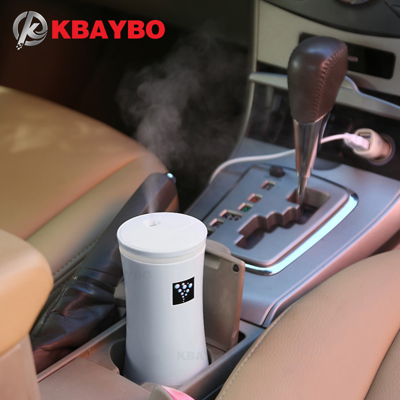 KBAYBO 230ML Mini Car Diffuser Ultrasonic Air Humidifier USB Diffusers Mist Maker For Car Humidifier For Home With LED Lights