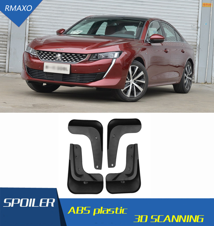 For <font><b>Peugeot</b></font> <font><b>508</b></font> 2019-2020 Mudflaps Splash Guards Front With color and rear <font><b>Mud</b></font> <font><b>Flap</b></font> Mudguards Fender Modified special image