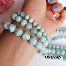 Очаровательные бусины onwan из натурального А + зеленого ангелита