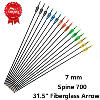 100 pcs od 9 mm id 7 mm arrow nocks plastic nock for 6 8 6 9 mm arrows shaft compound recurve bow hunting and shooting archery Spine 700 Fiberglass 7 mm Arrow 31.5 inches with Plastic Feather and Nock Steel Arrowhead for 30-80lbs Recurve Bow Archery