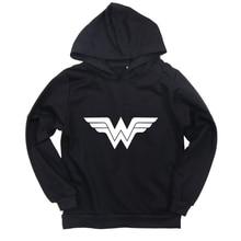2019 Kids New Children Boys Girls Hoodie Sweater Wonderwoman Printed Coat Outwear Sweatshirt Casual Cotton Clothes Hot