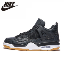 NIKE AIR JORDAN 4 Original Men Basketball Shoes Non-slippery Air Cushion Outdoor Sports Sneakers#308497 цена