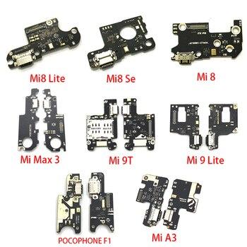 10pcs For Xiaomi Mi 9T A3 A2 A1 9 Se 8 Lite Max 3 Black Shark 2 POCOPHONE F1 USB Charging Port Dock Connector Board Flex Cable