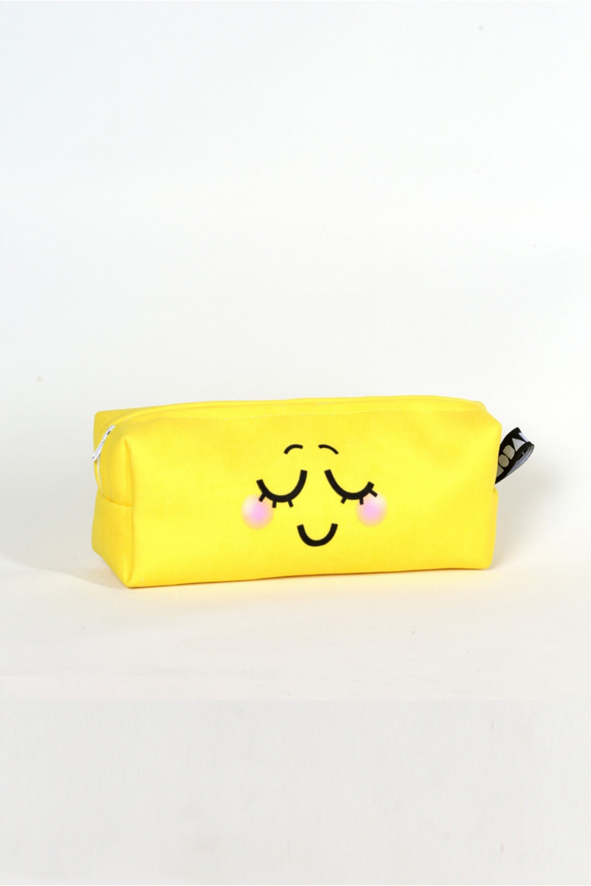 2021 New Fashion Cute Smiley Pencil Makeup Box Patterned With Digital Printing Yellow Free and Fast Shipping