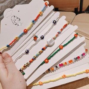 Kpop Kralen Ketting Ins Hand Geweven Kleine Bloemen Madeliefjes Ketting Vrouwen Chic Sleutelbeen Choker Esthetische Accessoires(China)