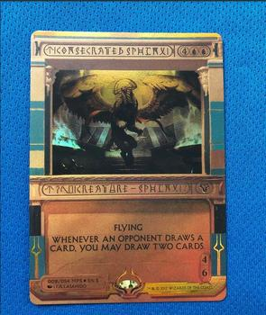 Consecrated Sphinx Amonkhet Invocations (MP2) Golden Holofoil Magician ProxyKing The Proxy Cards To Gathering Single Mg