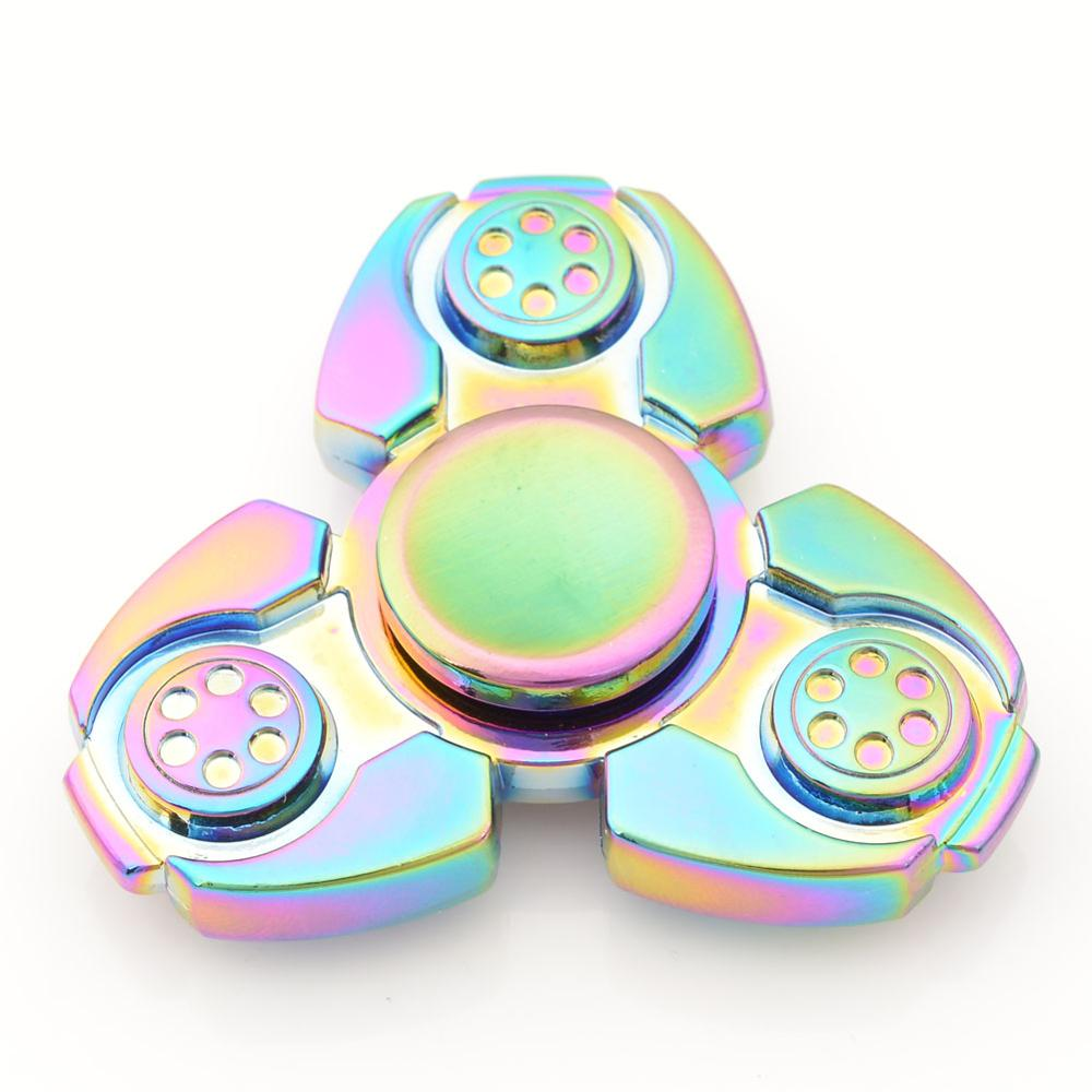 Hand-Spinner Fidget Stress Metal-Bearing Edc Hand-Relieves Zinc-Alloy Milti-Color img2