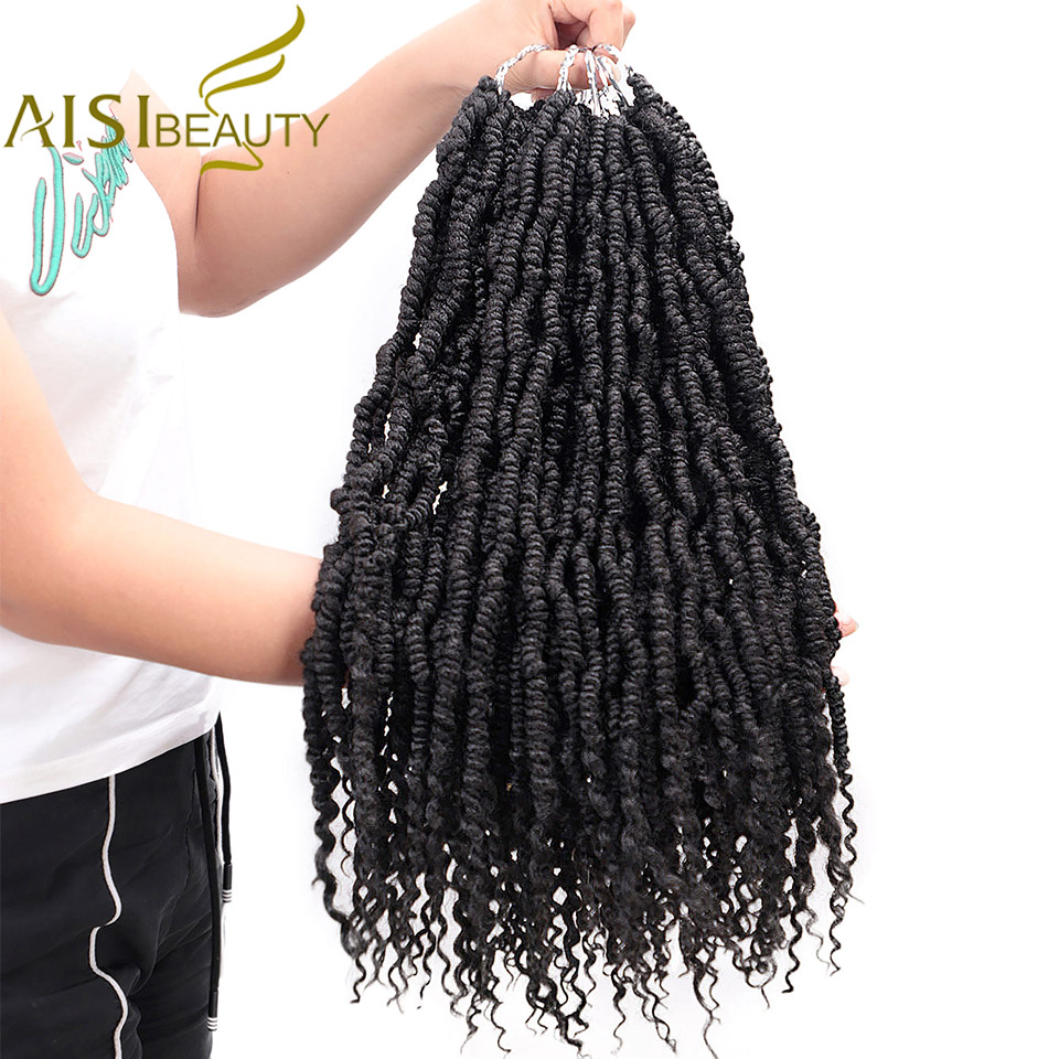 Pre-twisted Spring Twists Synthetic Crotchet Hair Extensions Ombre Crochet Braids Pre Looped Fluffy Bomb Twist Braiding Passion