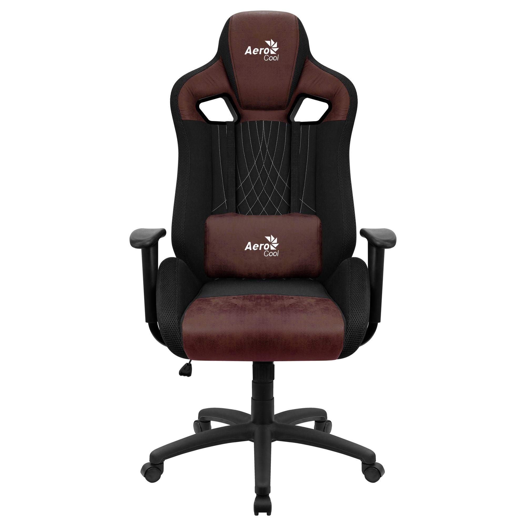 Aerocool EARL, Gaming Chair, AeroSuede Breathable, Backstop Adjustable, Red