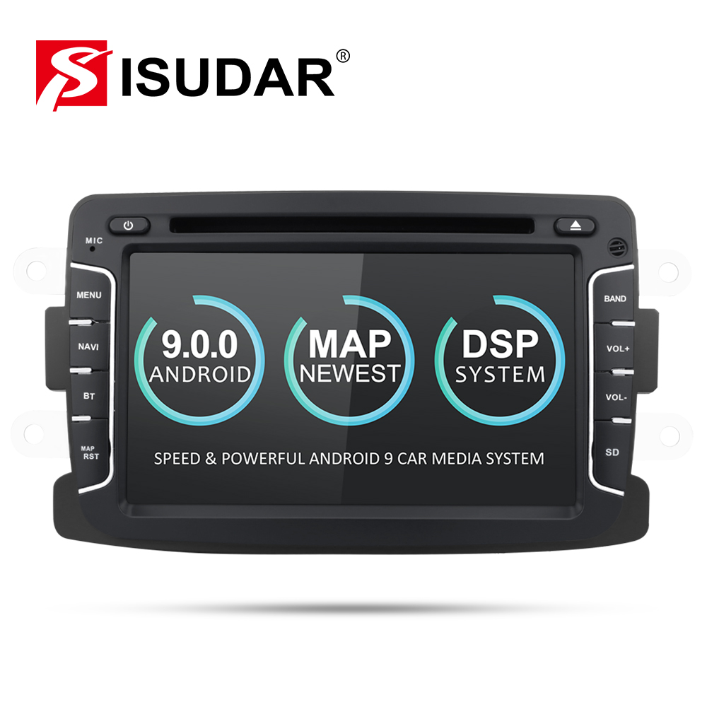 Isudar <font><b>Car</b></font> Multimedia player <font><b>Android</b></font> 9 Automotivo 2 Din For Dacia/Sandero/Duster/Renault/Captur/Lada/Xray 2/Logan 2 GSP <font><b>RAM</b></font> <font><b>2G</b></font> image