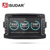 Lecteur multimédia de voiture Isudar Android 9 Automotivo 2 Din pour Dacia/Sandero/Duster/Renault/Captur/Lada/Xray 2/Logan 2 GSP RAM 2G